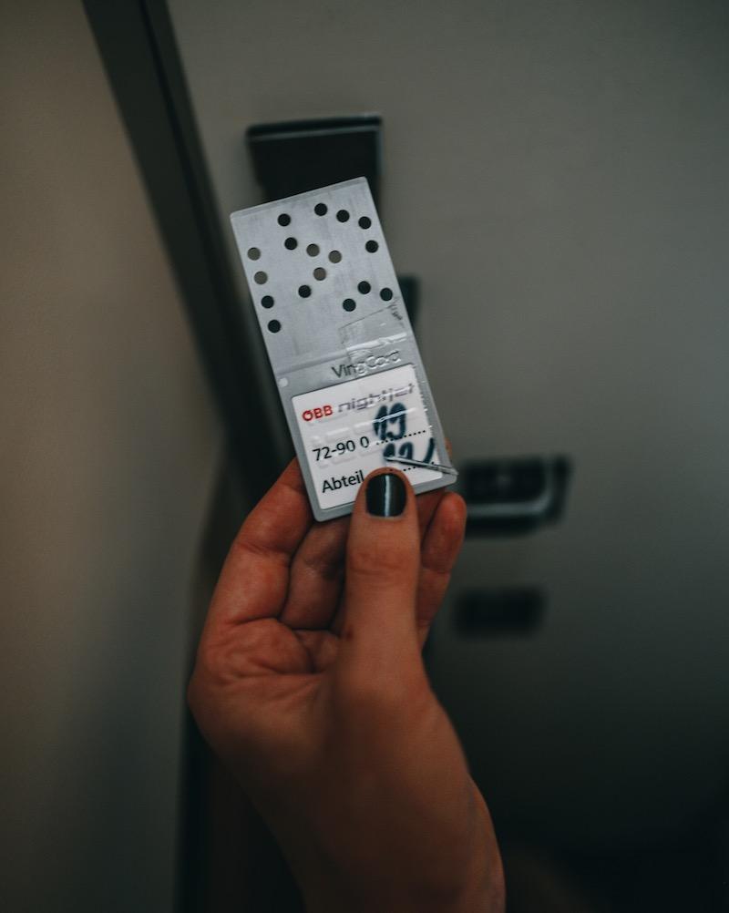 Zimmerkarte Nightjet Schlafwagen