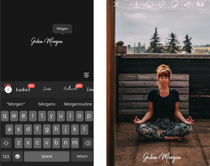 Instagram Story Schrift erstellen