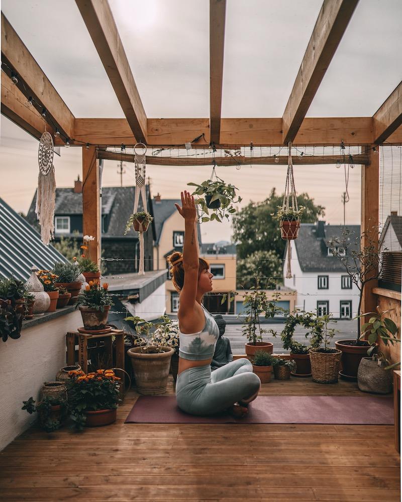 Dachterrasse Yoga