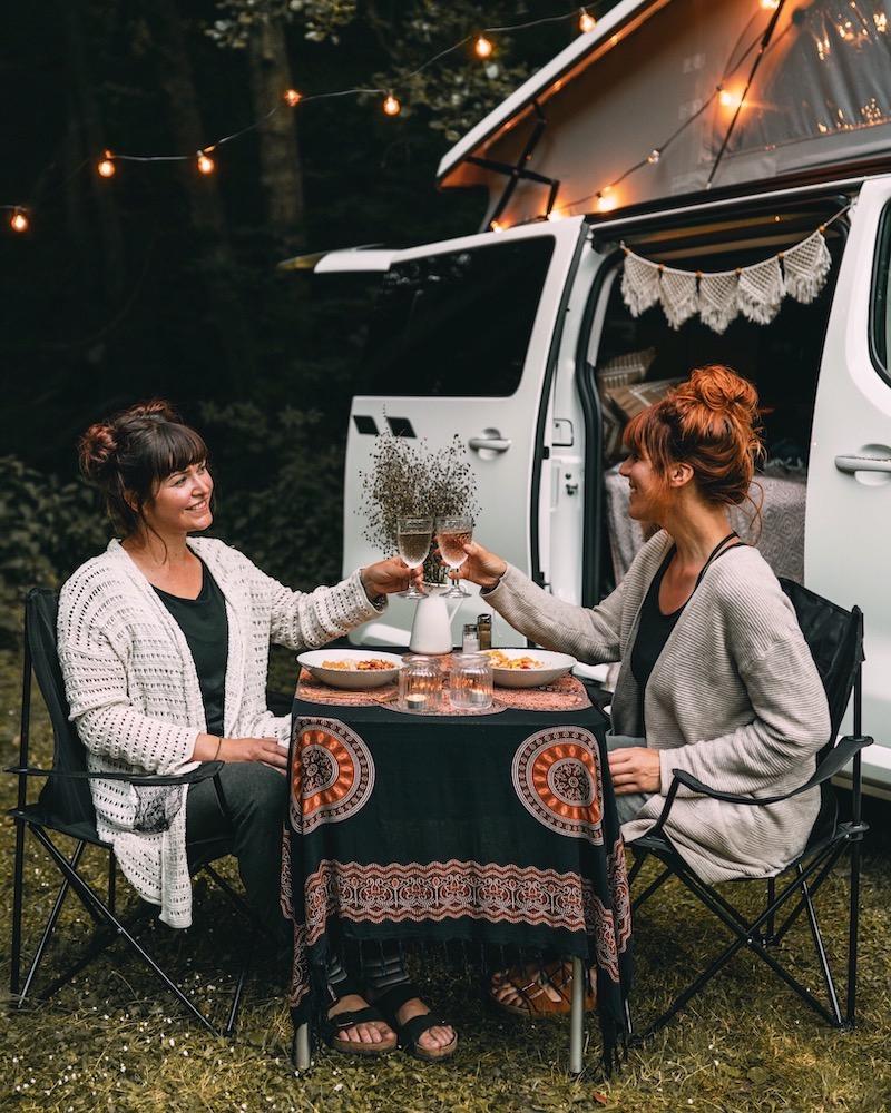 Campervan kochen essen