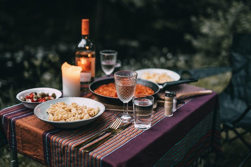Camping Abendessen