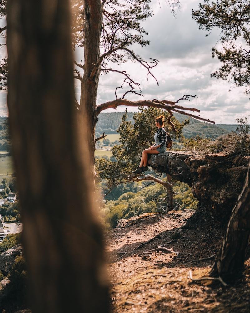 Buntsandsteinroute Nideggen wandern Eifel