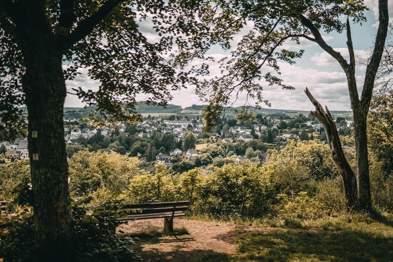 Wandern in der Eifel Ausblick Manderscheid