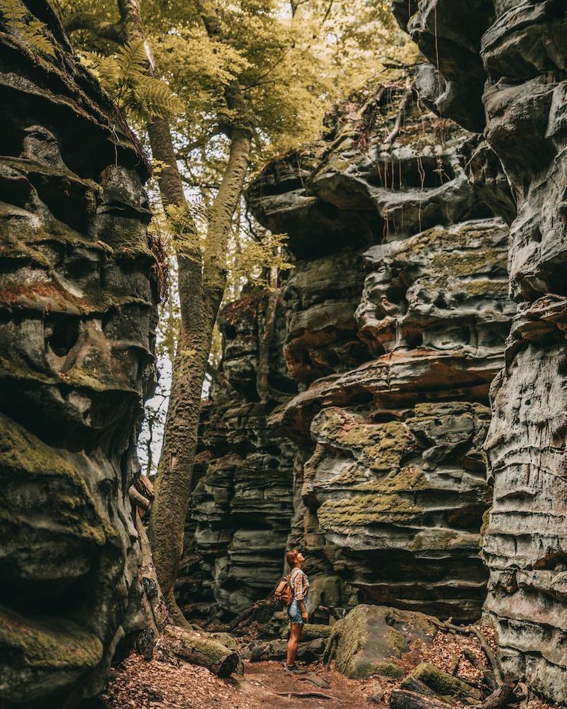 Wandern in der Eifel Teufelsschlucht