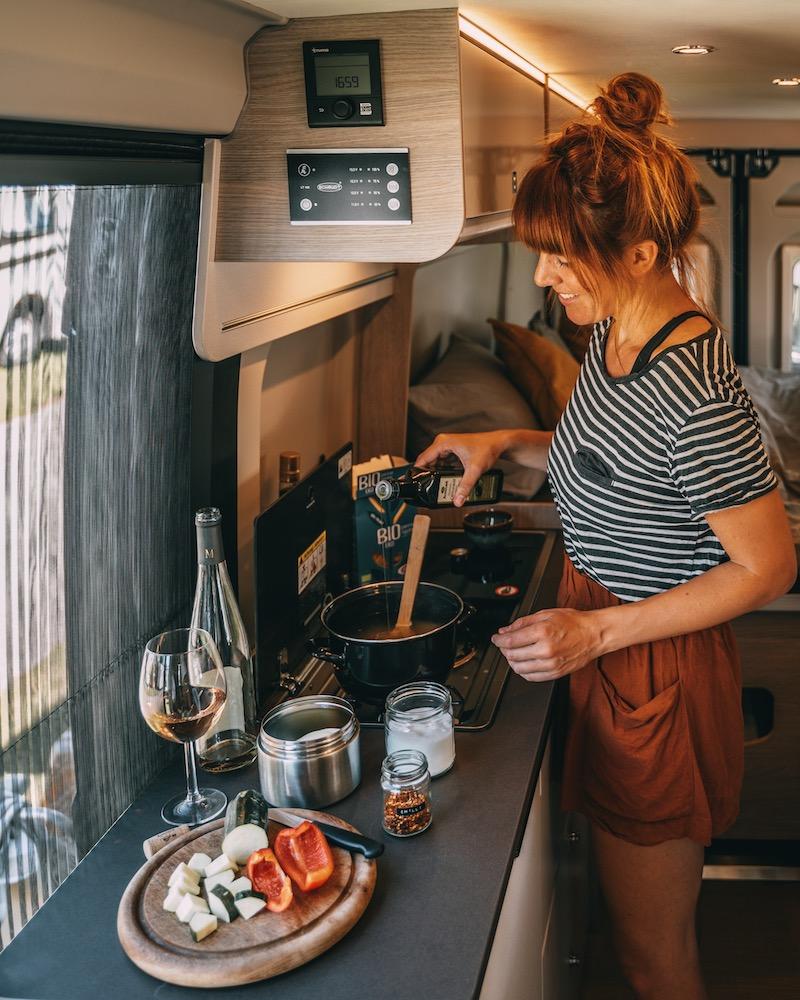 Wohnvan Campeo Küche