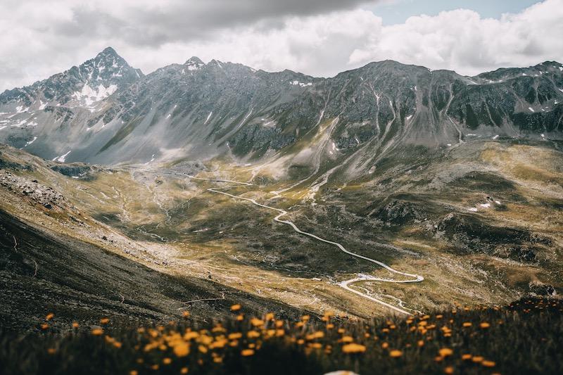 Flüelapass Davos Klosters im Sommer