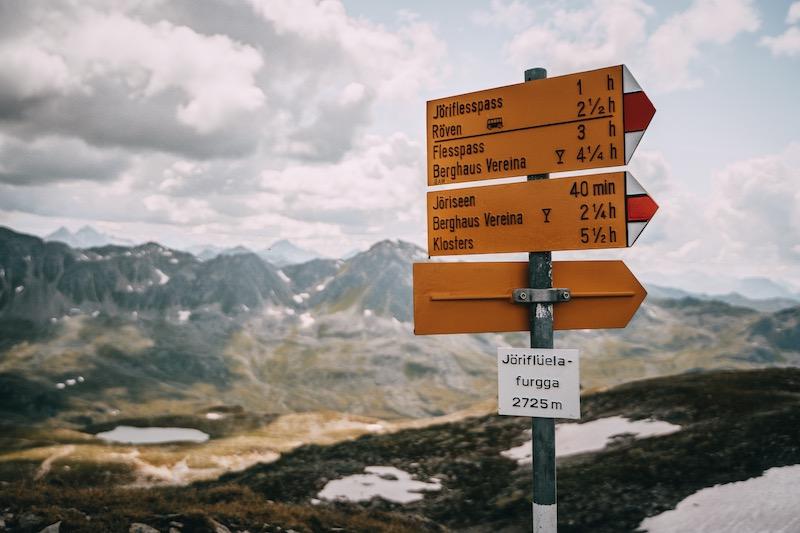 Jöriflüelafurgga Graubünden Schweiz
