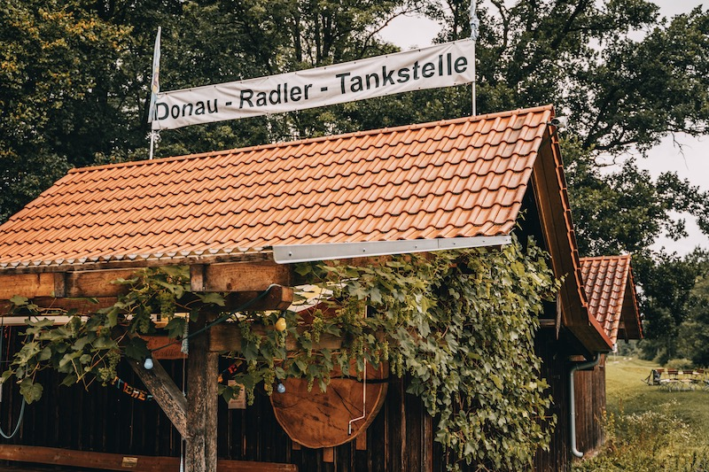 Radler Tankstelle Donauwald Wanderweg