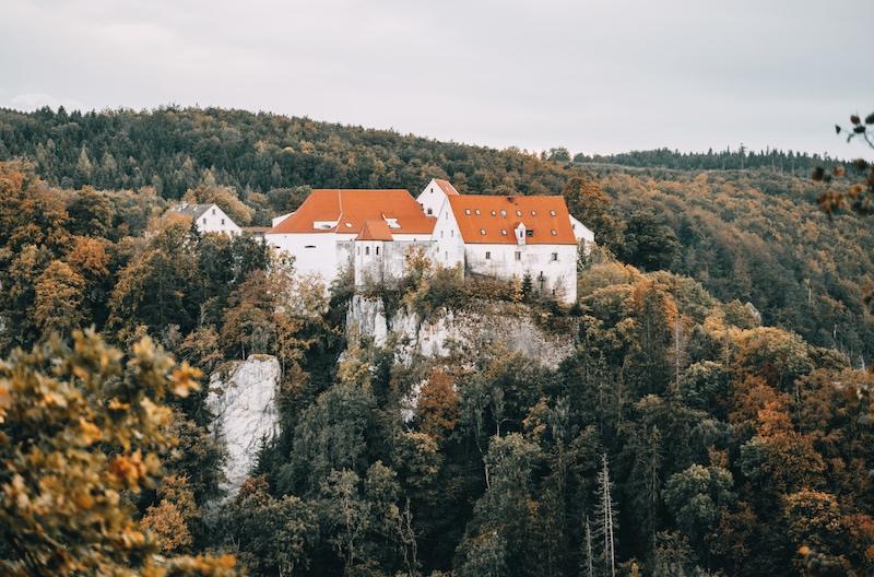 Bandfelsen Donaubergland Burg Wildenstein