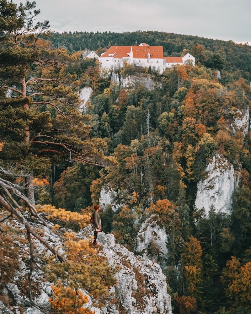 Bandfelsen Donaubergland Schwäbische Alb
