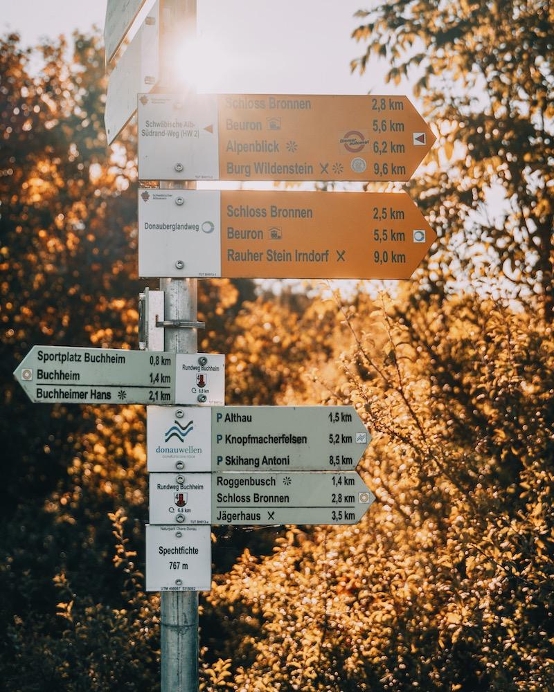 Donaufelsen Tour Wegweiser