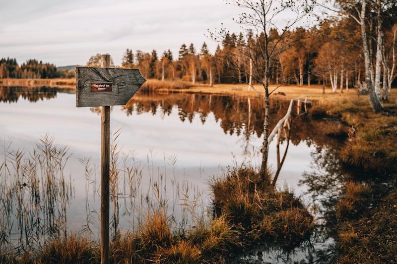 Urlaub in Bayern Soier See Barfußpfad