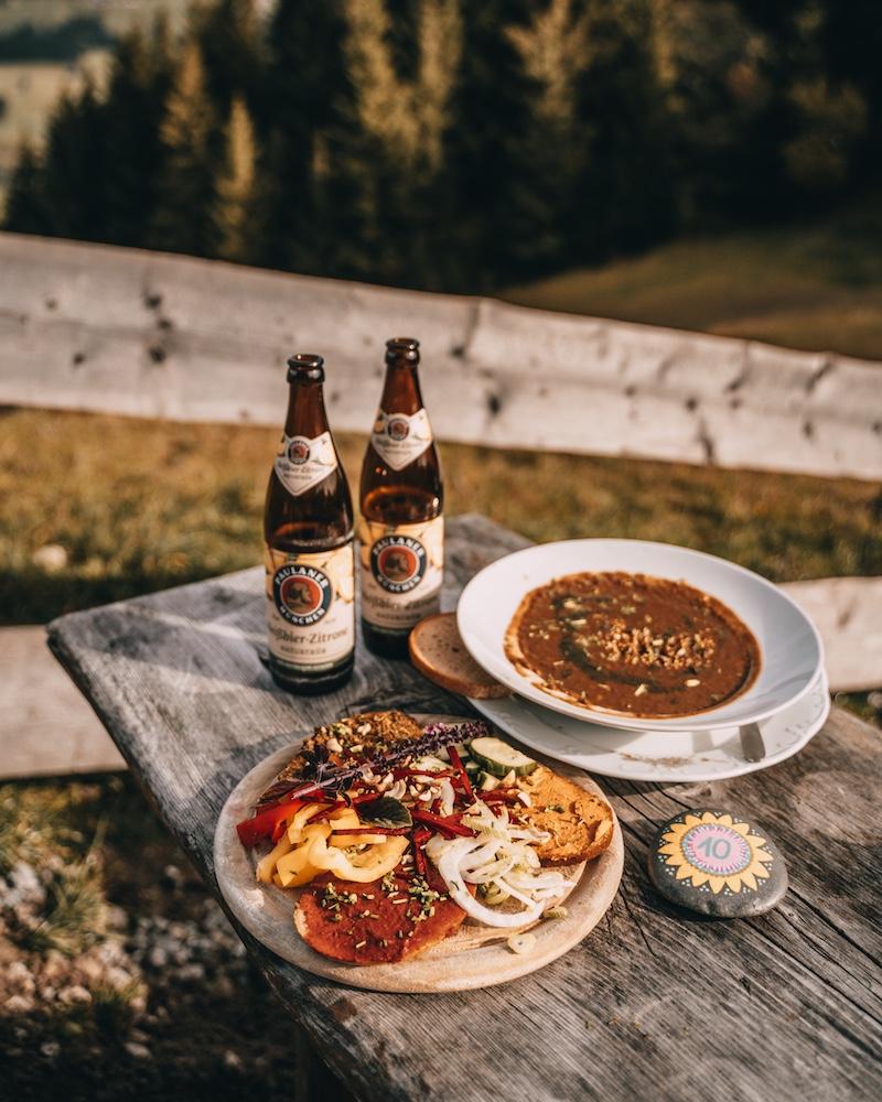 Urlaub in Bayern vegetarische Hütte