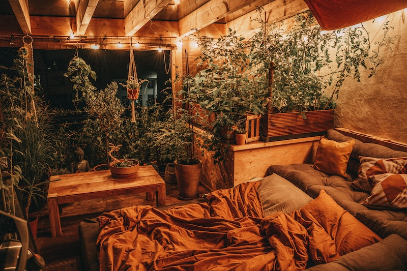 Dachterrasse draußen schlafen