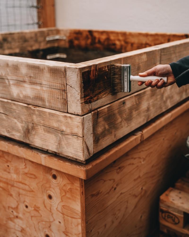 Beet bauen Februar