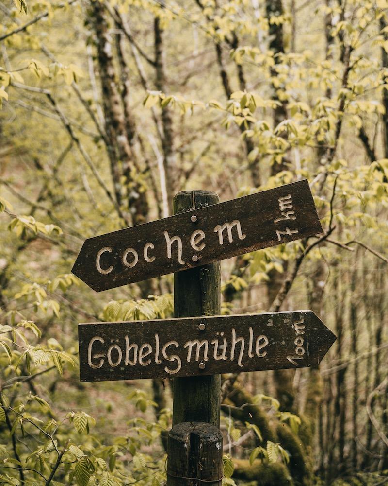 Tal der wilden Endert Cochem Wegweiser