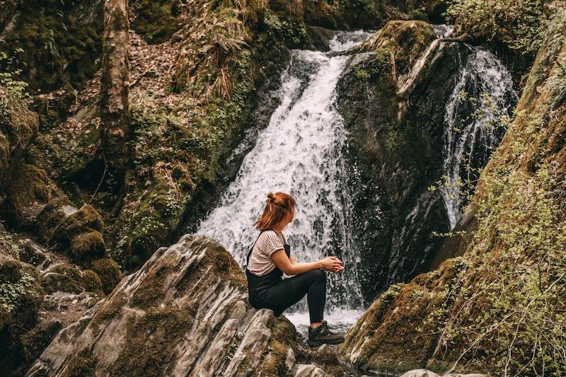 Tal der wilden Endert Wasserfall