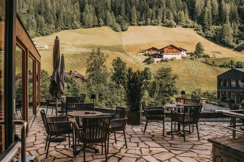 Terrasse Naturhotel Rainer